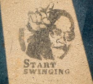 Graffito Gehweg IV